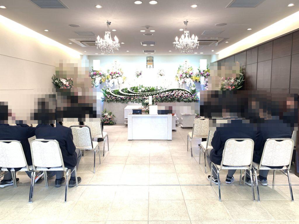 堺市 生花とキャンドルの祭壇